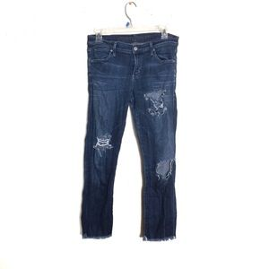 Citizens of Humanity Distressed Cropped Jeans